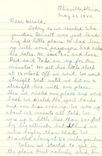 Letter side 1