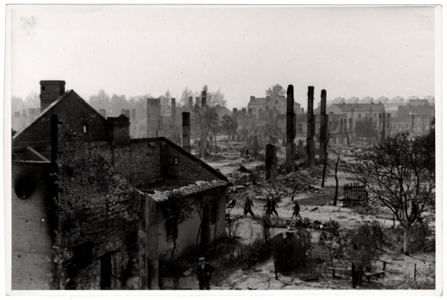 Warsaw after invasion