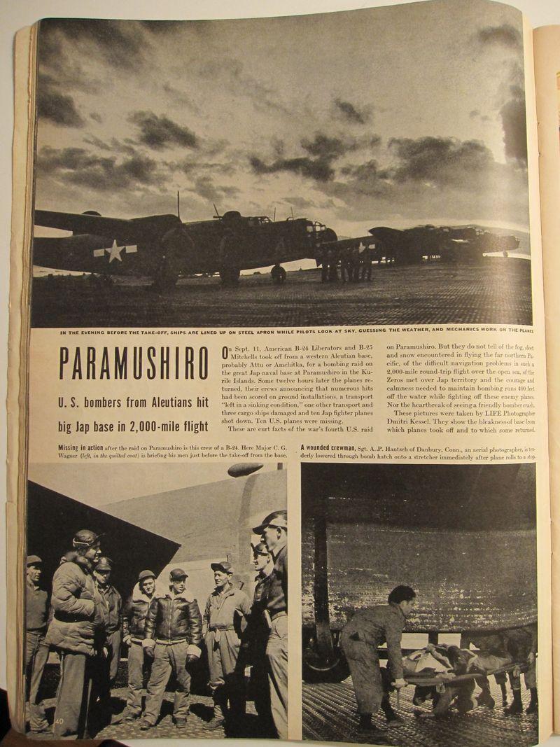 B-24s in Aleutians, Life magazine
