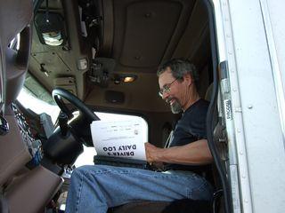 Tom in cab