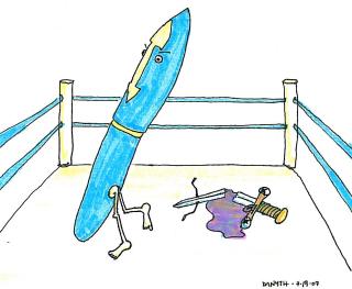 Pen defeating sword